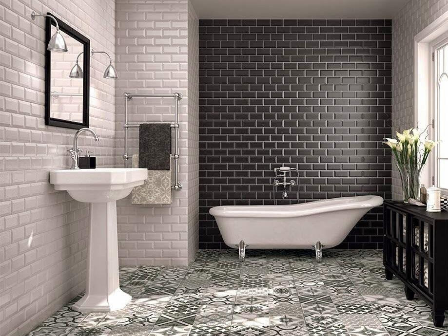15 salles de bains avec du carrelage m tro joli place for Carrelage style metro parisien