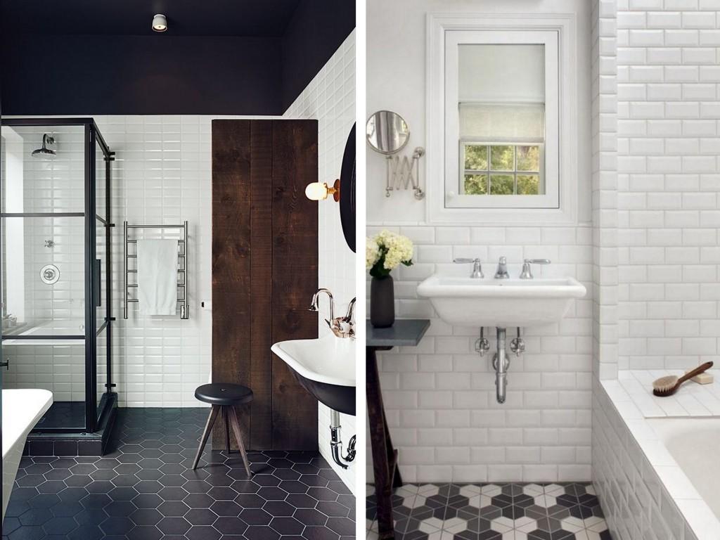 15 salles de bains avec du carrelage m tro joli place for Marques salle de bain