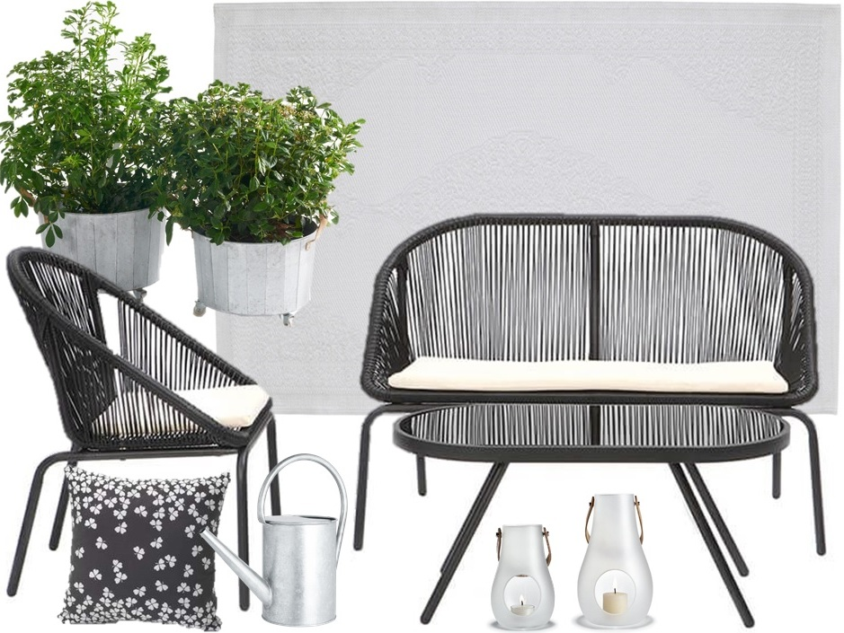 Awesome salon de jardin noir et blanc pictures awesome for Idee deco jardin