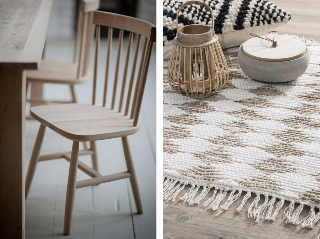 chaise à barreaux en bois