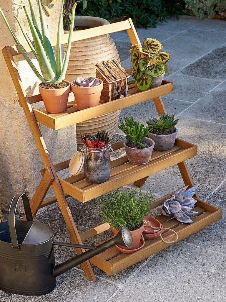 etagere pour plantes pliante
