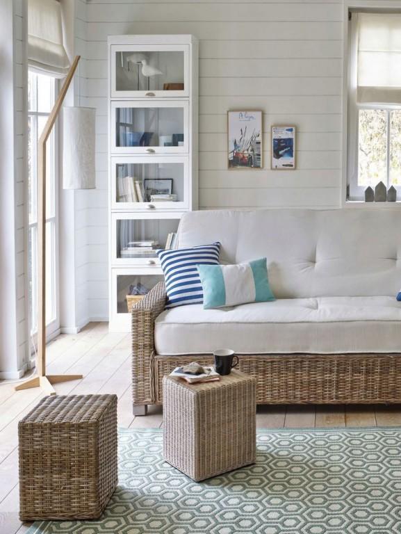 meuble vitrine blanc
