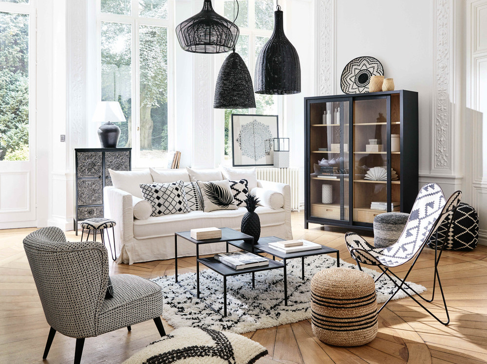 cool grande vitrine noire u uac u maisons du monde with. Black Bedroom Furniture Sets. Home Design Ideas