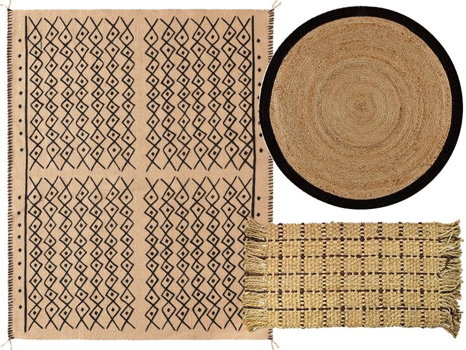 tapis bohème en jute