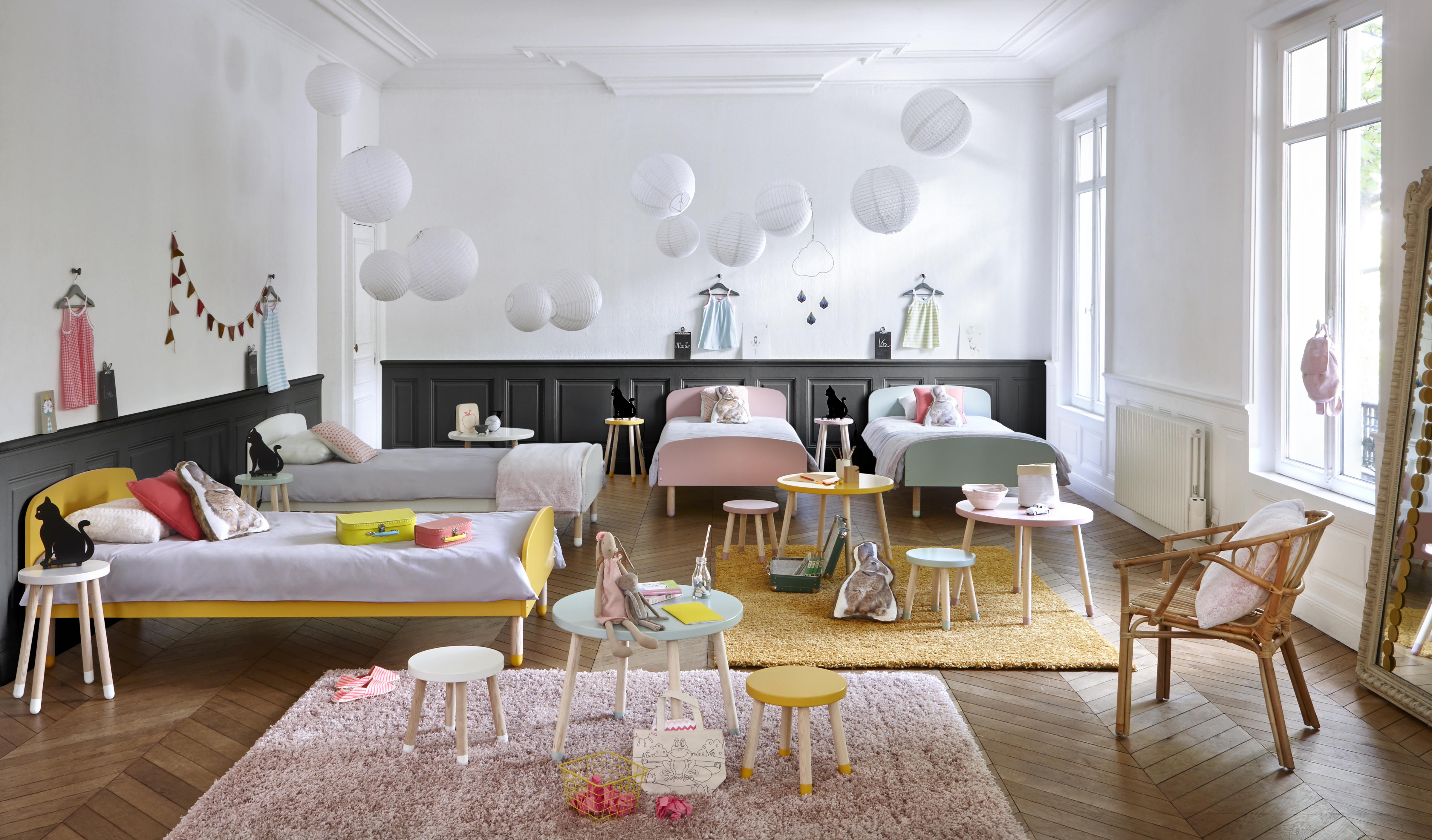 Am nagez un dortoir pour les enfants dans votre maison de for Quelle couleur peinture pour chambre fille