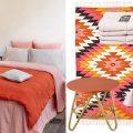 chambre orange et rose
