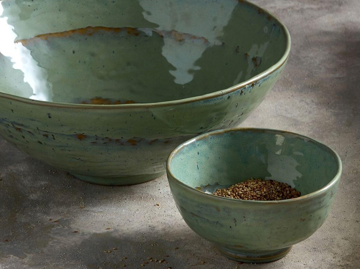 saladier céramique vert