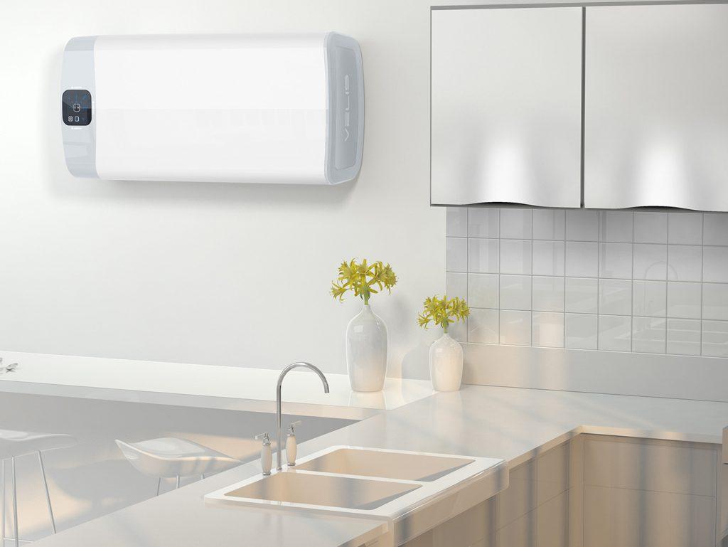 gain de place le chauffe eau lectrique plat ariston. Black Bedroom Furniture Sets. Home Design Ideas