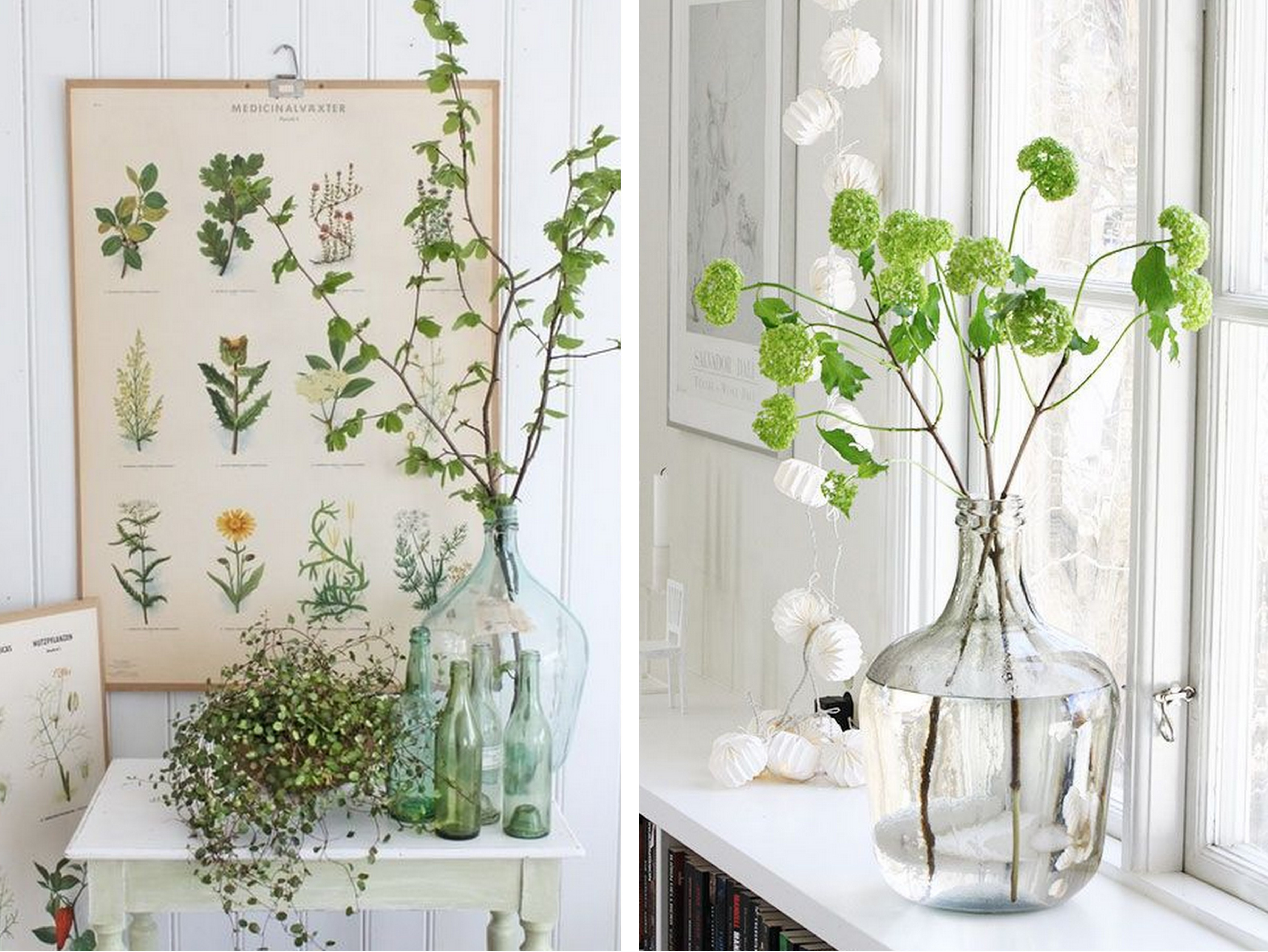 bouteilles bocaux flacons recycl s en vases pour votre d co. Black Bedroom Furniture Sets. Home Design Ideas