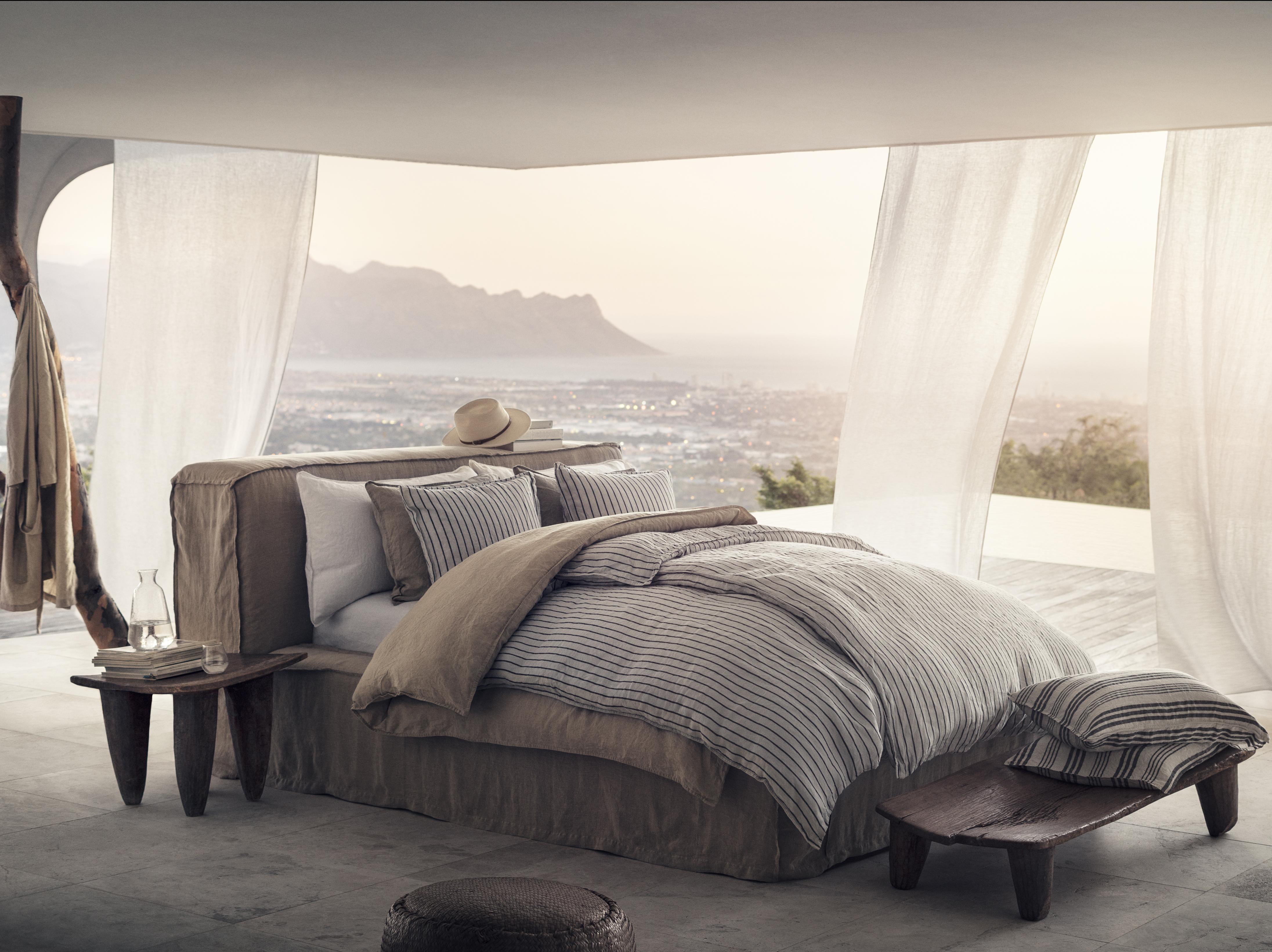 linge de lit en lin lavé