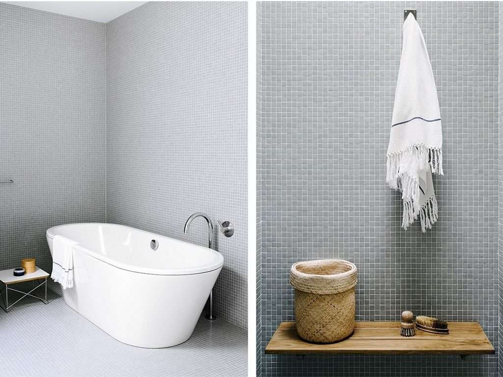 Carrelage mosa que dans la salle de bains id es et conseils joli place - Carrelage brillant salle de bain ...