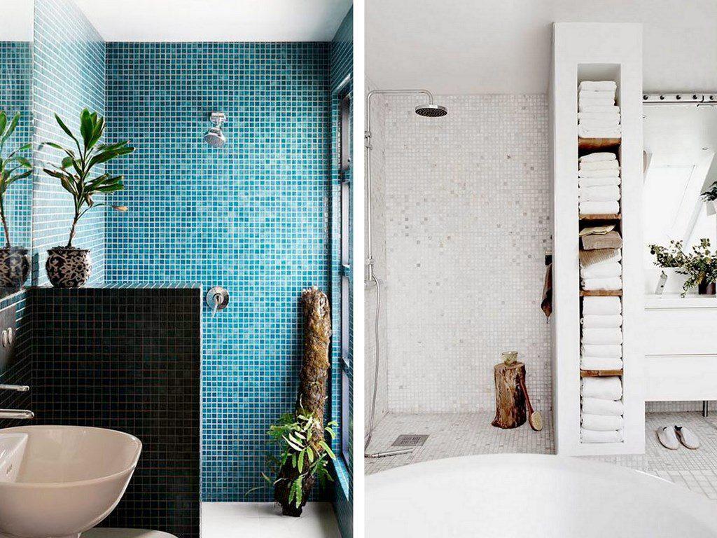 Carrelage Salle De Bain Bleu Turquoise carrelage mosaïque dans la salle de bains : idées et