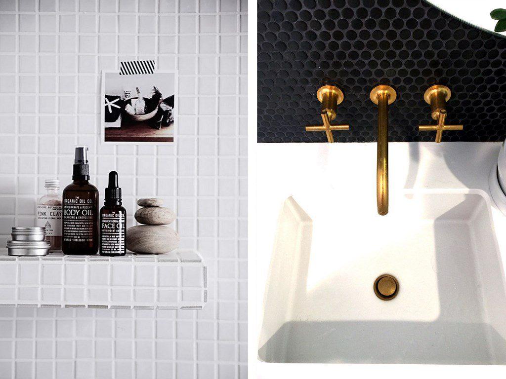 Carrelage mosa que dans la salle de bains id es et - Salle de bain peinture ou carrelage ...