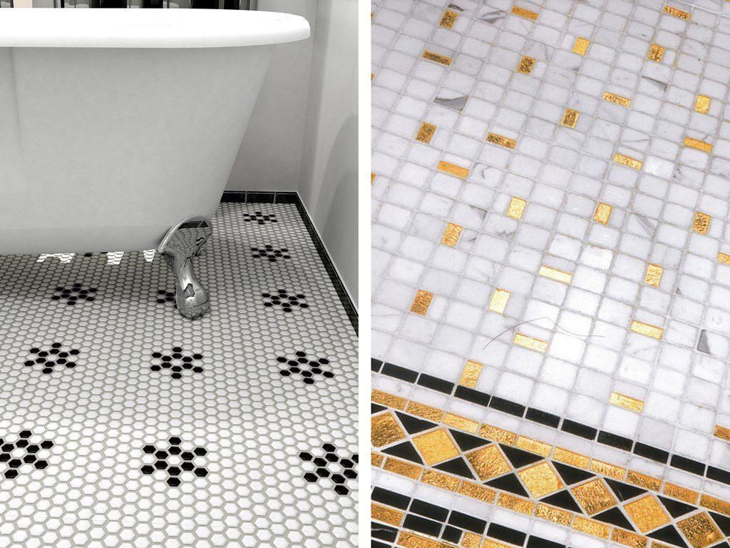 carrelage mosaïque dans la salle de bains