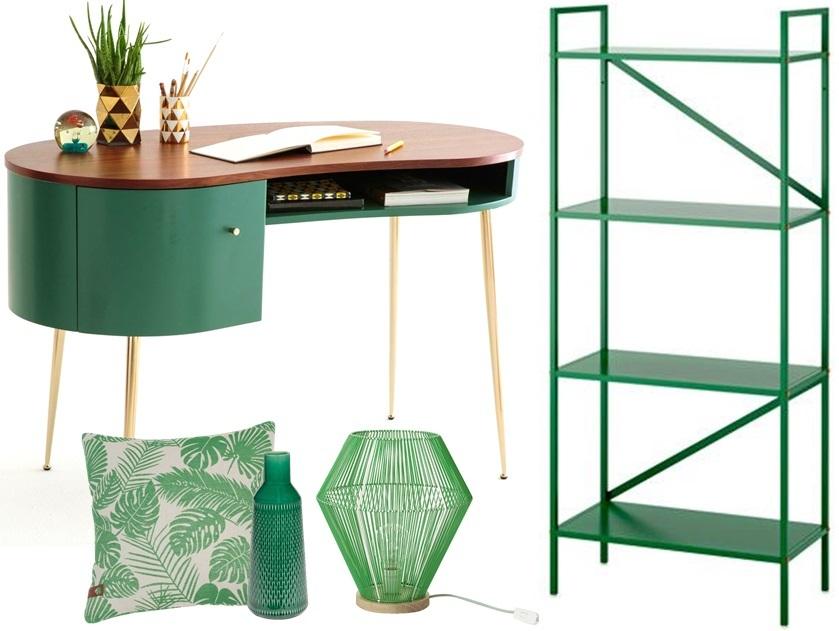 La d co couleur vert meraude effet feel good assur for Petit bureau etagere