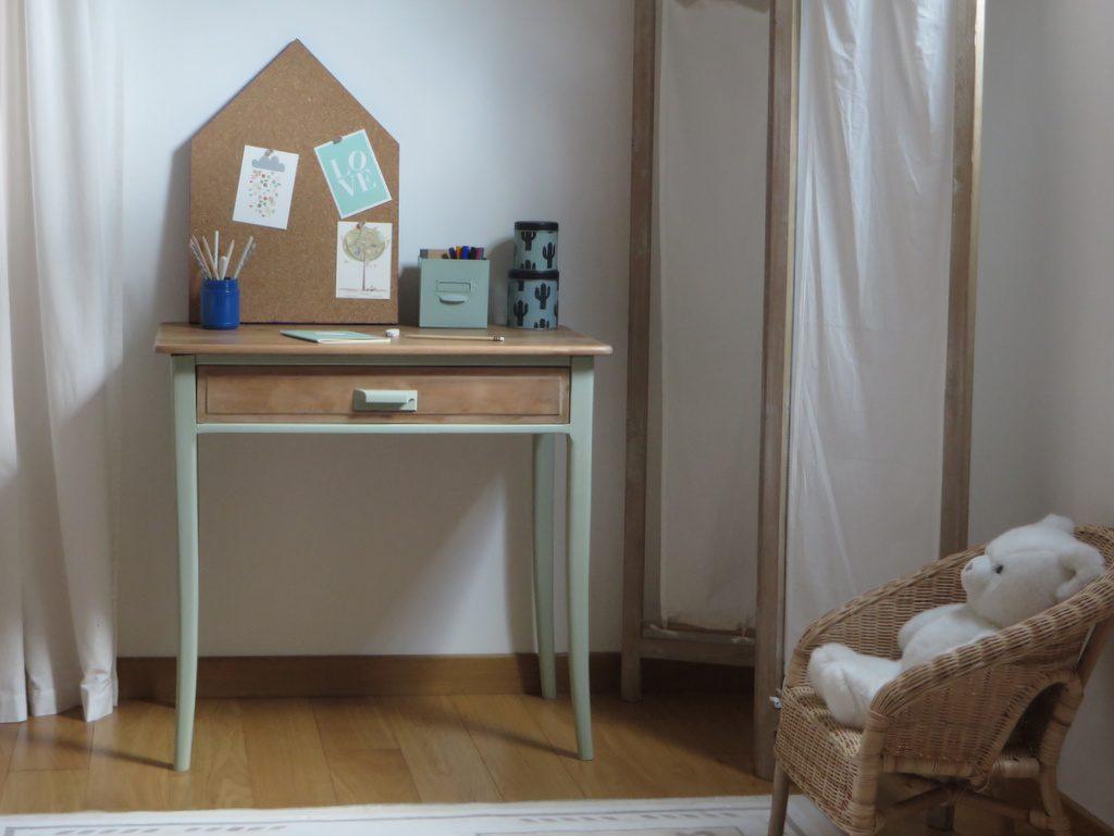 Un petit bureau pour enfant rénové : diy avant après joli place
