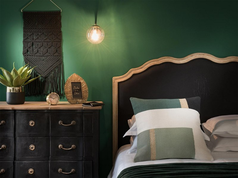 une collection d co en vert et noir joli place. Black Bedroom Furniture Sets. Home Design Ideas