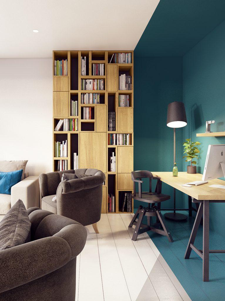 color zoning l 39 art de d limiter avec la peinture. Black Bedroom Furniture Sets. Home Design Ideas