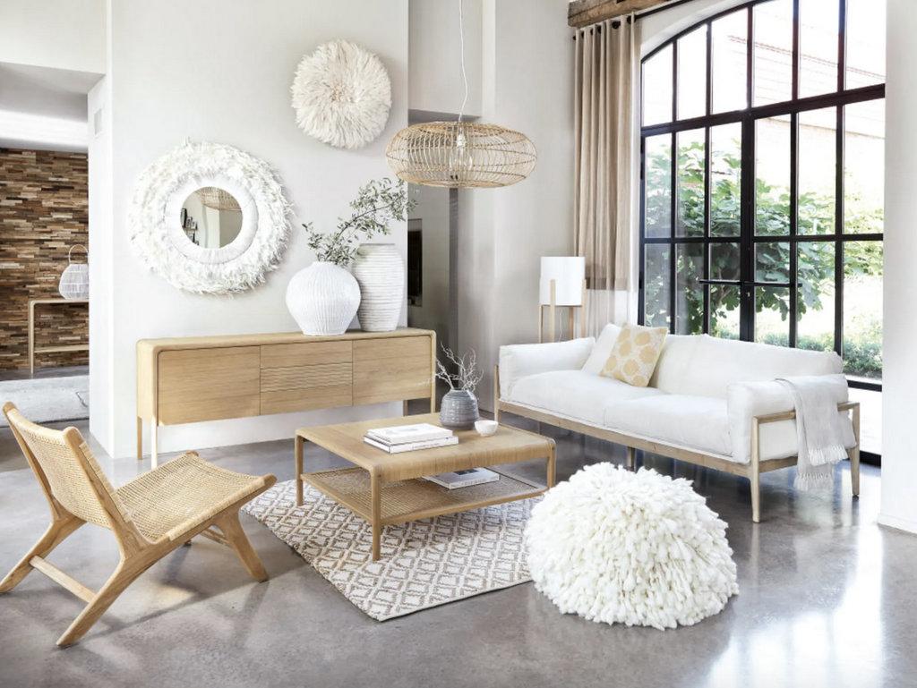 Canapé blanc et fauteuil blanc : 18 modèles pour le salon - Joli Place