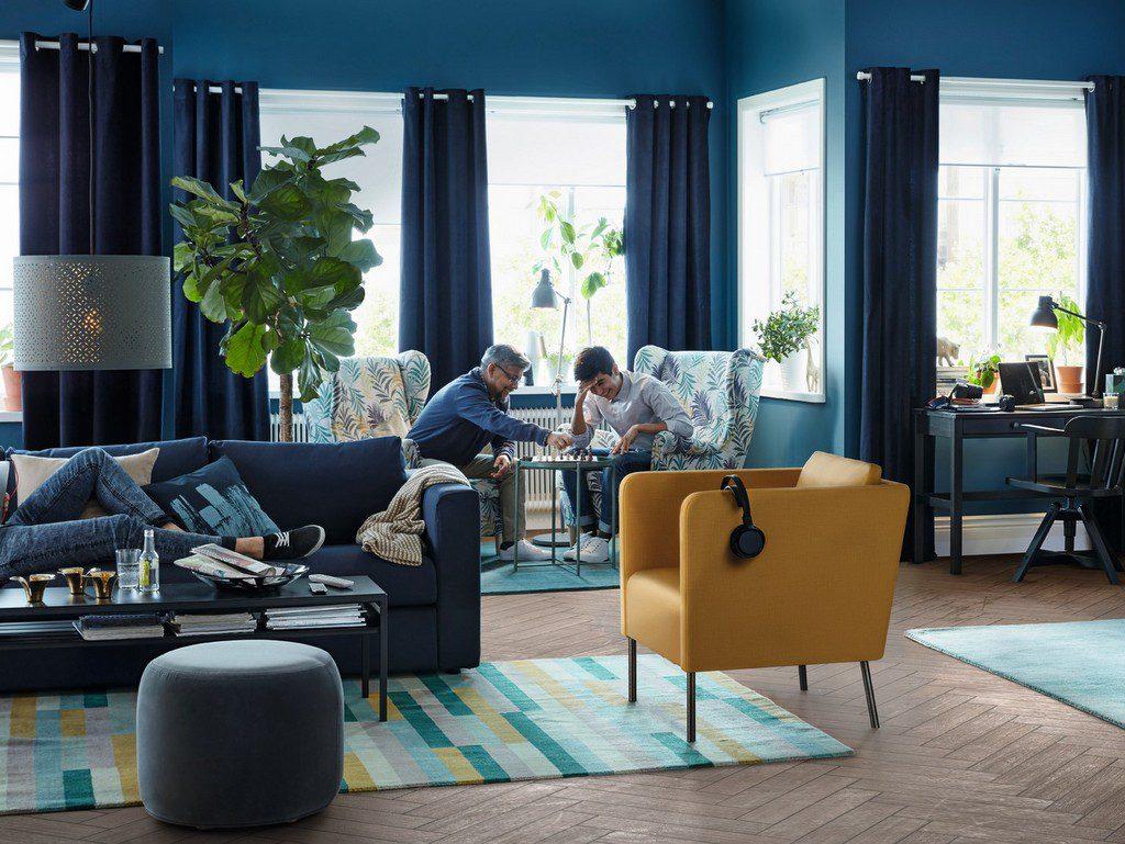 Une maison la d co bleu marine imagin e par ikea joli - Deco interieur bleu ...