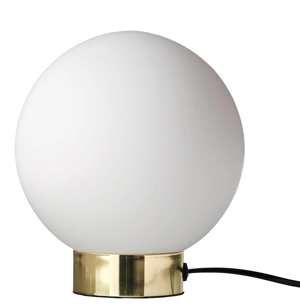 lampe ronde laiton et opaline
