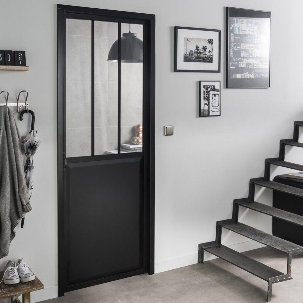Porte Entree Vitree Leroy Merlin pour installez une porte d'atelier dans votre entrée - joli place