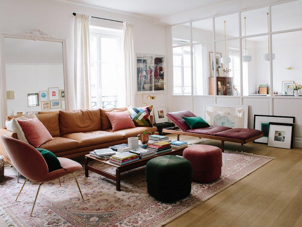 Deco Salon Gris Rose pouf en velours :le nouvel indispensable déco - joli place