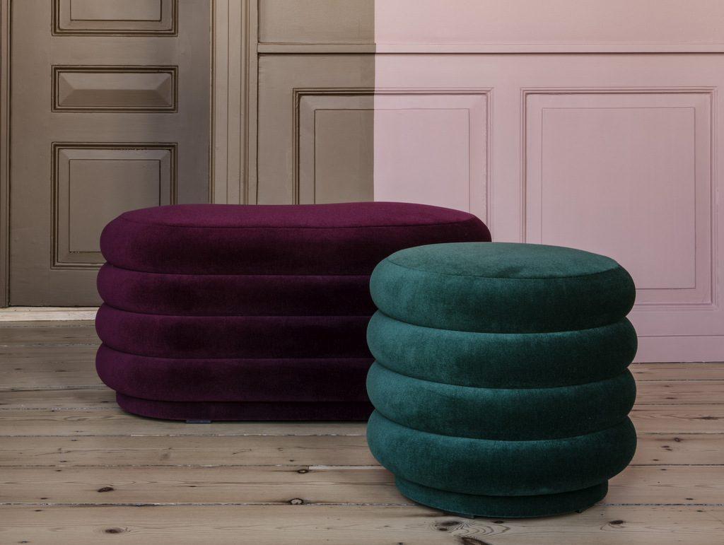 pouf en velours le nouvel indispensable d co joli place. Black Bedroom Furniture Sets. Home Design Ideas