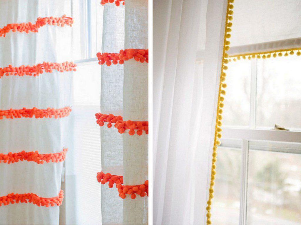 des rideaux pompons une id e pour customiser des rideaux joli place. Black Bedroom Furniture Sets. Home Design Ideas