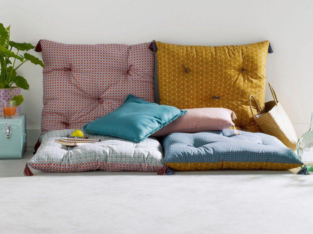 Textiles d co en couleurs osez le m lange joli place - Housse coussin de sol ...