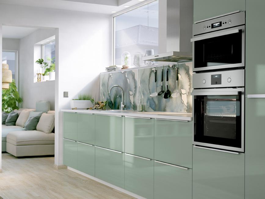 Simple cuisine verte ikea with cuisine vert for Equipement placard cuisine