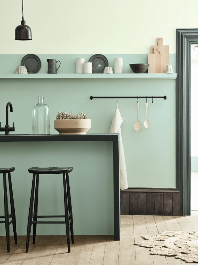 Cuisine verte 3 nuances de la plus claire la plus - Little green peinture ...