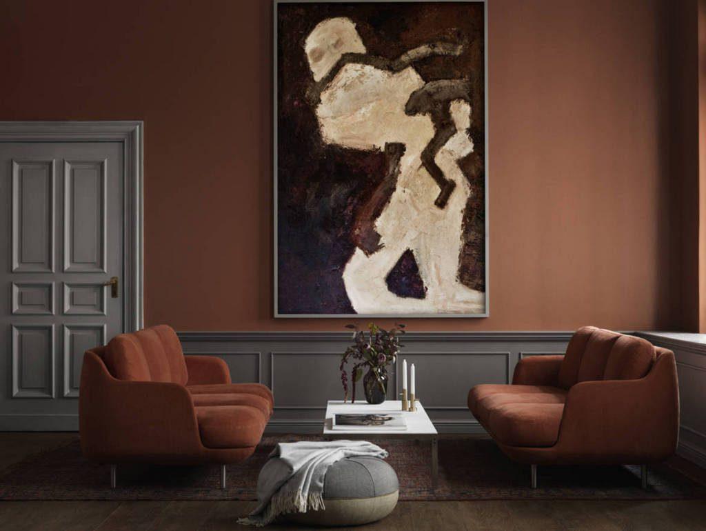 Tapis Salon Couleur Rouille déco couleur terracotta et gris : des idées à piquer - joli