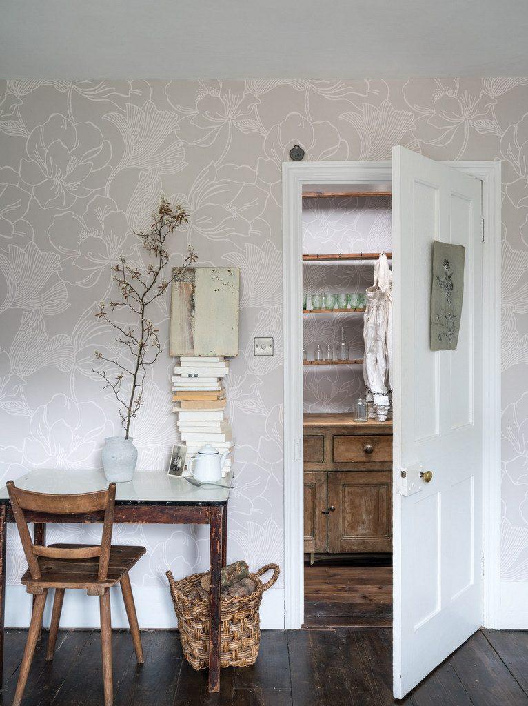 papier peint fleuri faites entrer la nature dans la. Black Bedroom Furniture Sets. Home Design Ideas