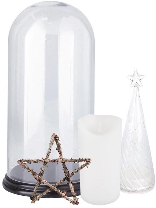 une d co de no l dans une cloche en verre joli place. Black Bedroom Furniture Sets. Home Design Ideas