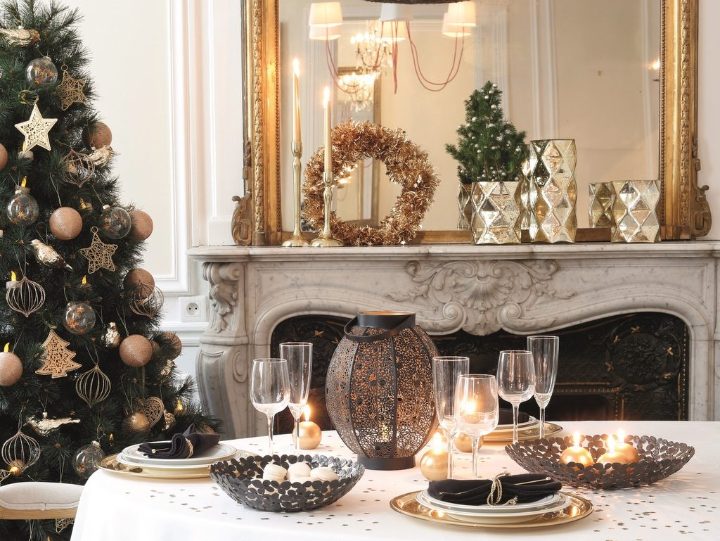 Inspirations pour une déco de Noël dorée , Joli Place