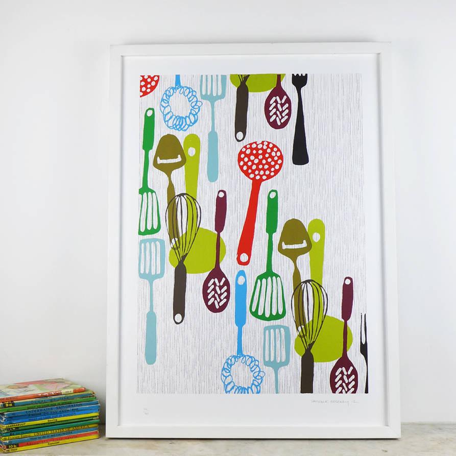 affiche cuisine rétro