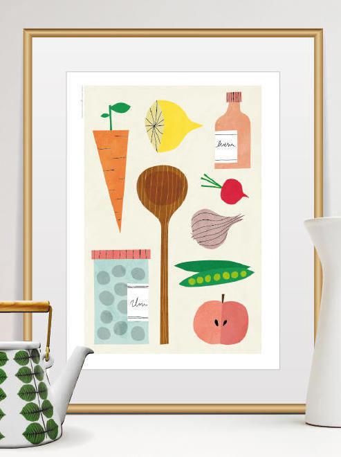 Poster pour cuisine top pour la cuisine cocose lithograph for Poster cuisine moderne