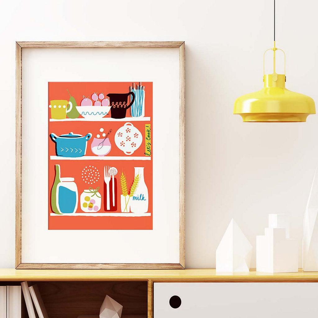 Affiche cuisine r tro on vous dit o en trouver joli place for Affiche pour cuisine