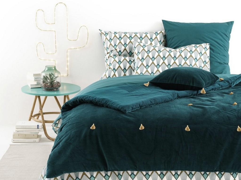 Decoration Chambre Bleu Paon : Inspirations pour une déco bleu paon joli place