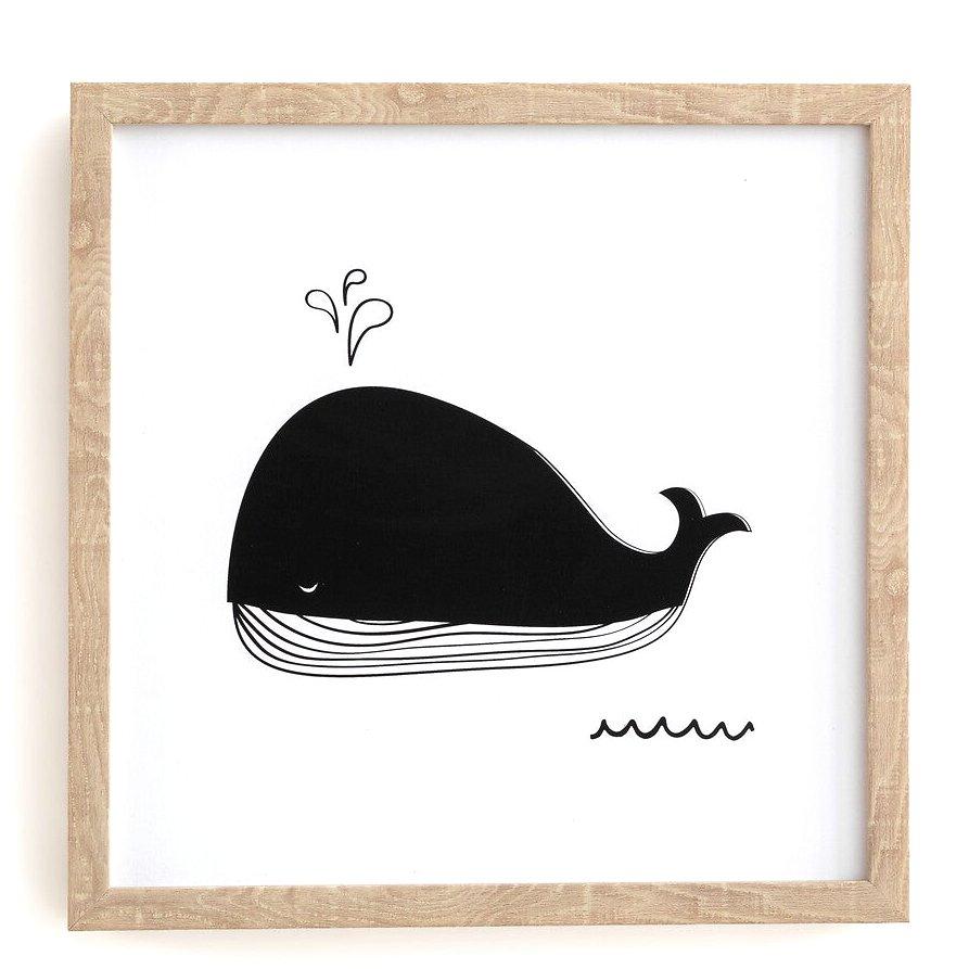 Affiche baleine bébé