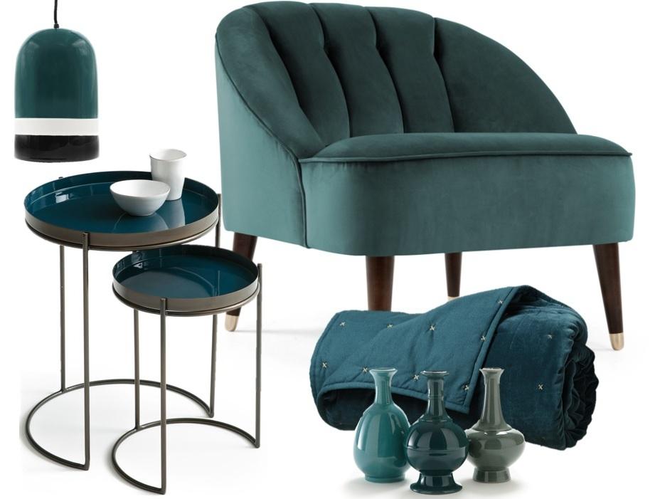 idee deco bleu paon fauteuil table suspension Résultat Supérieur 50 Inspirant Fauteuil Bleu Paon Pic 2017 Kae2