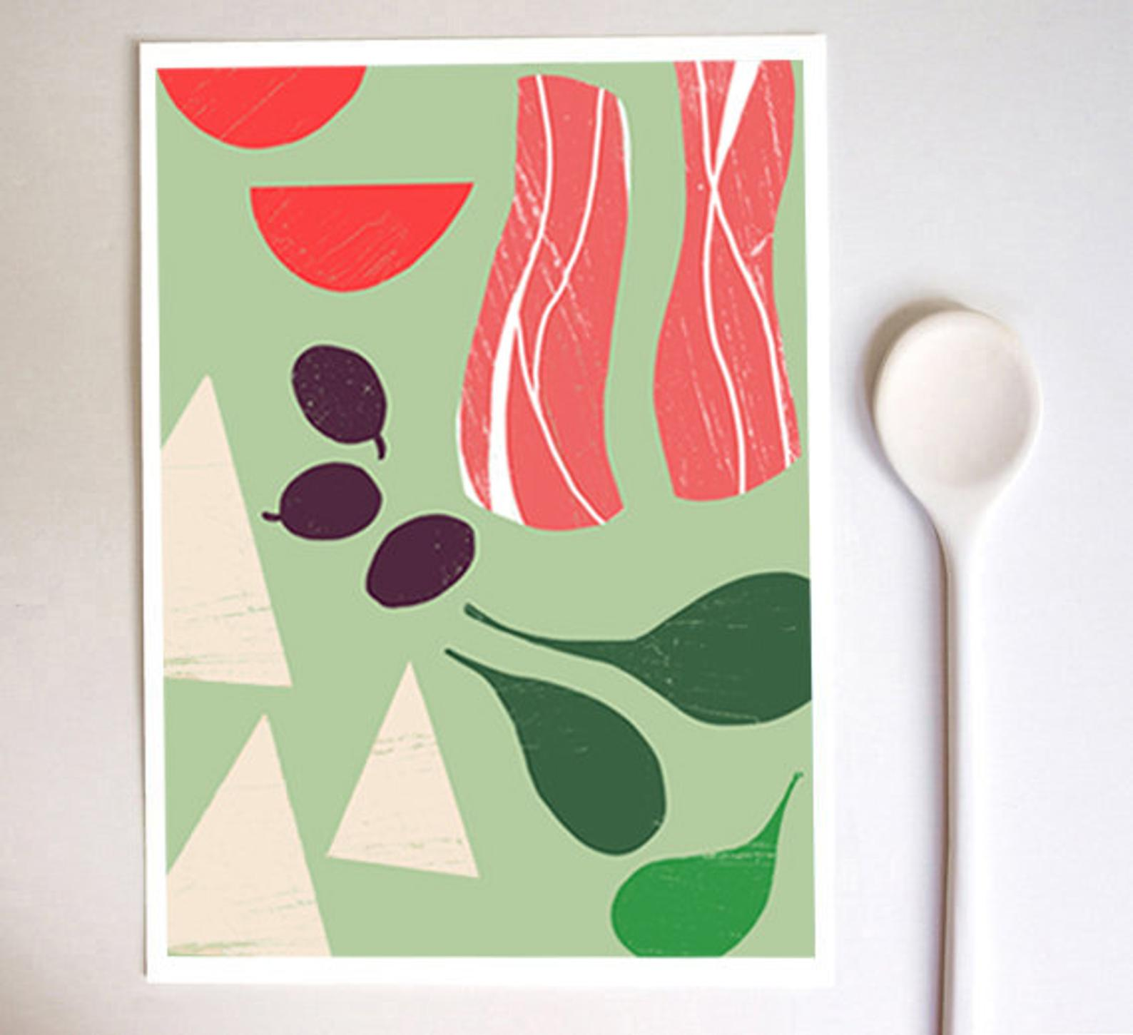 Les affiches culinaires d'Anek - Joli Place