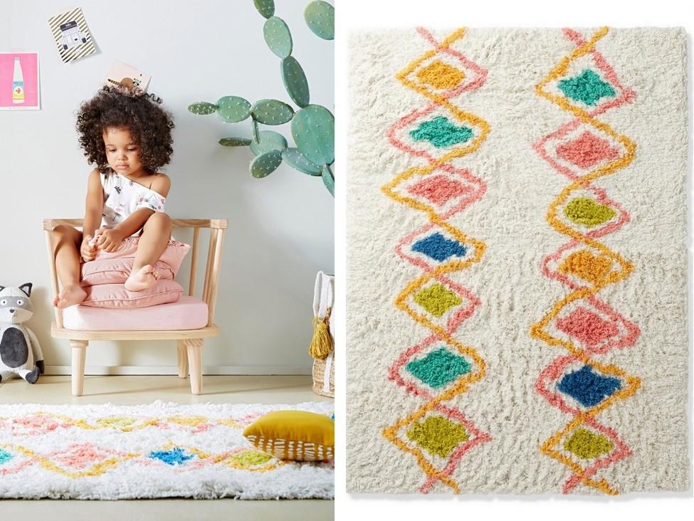 tapis berbère coloré