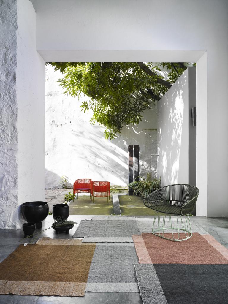 meuble de jardin en scoubidou