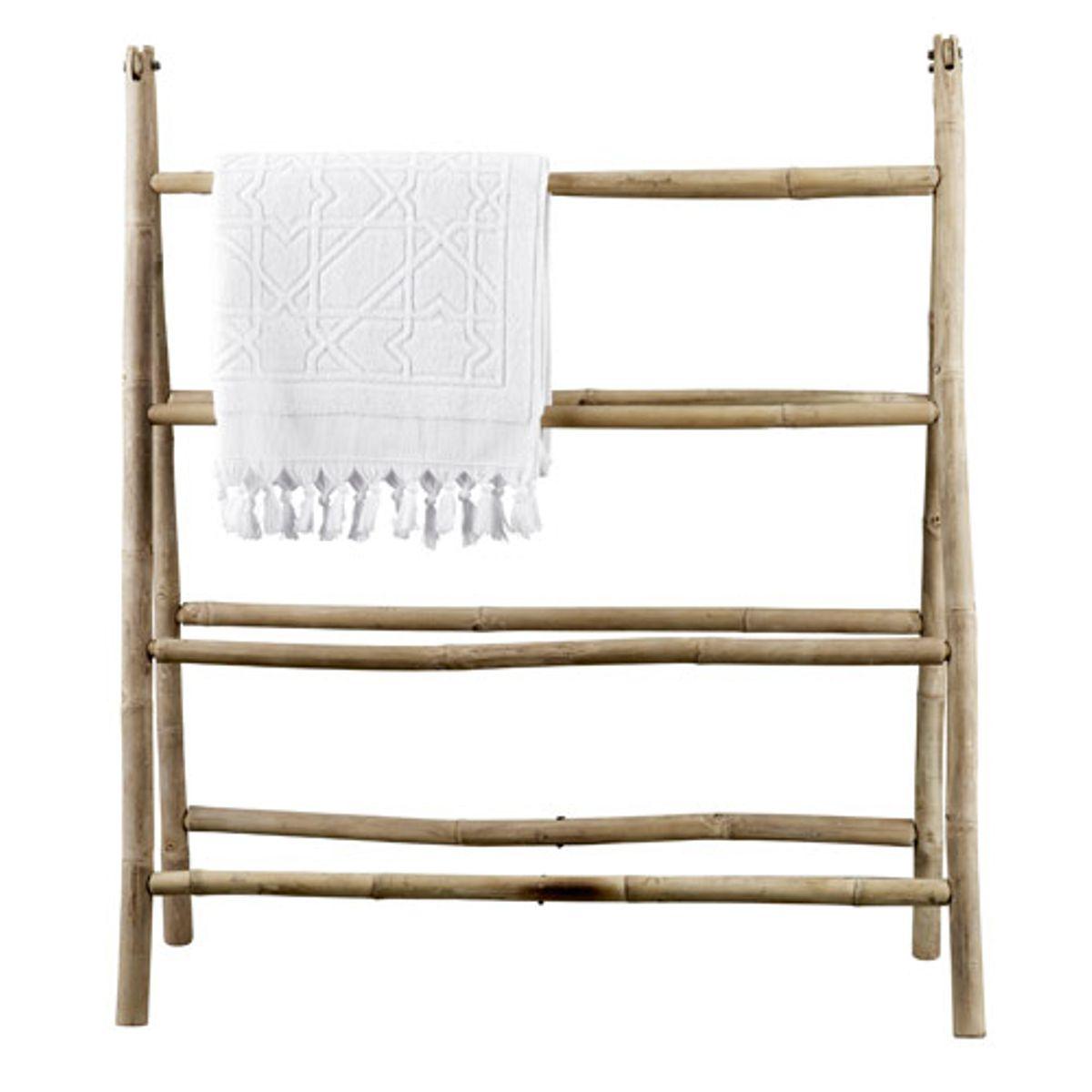 porte serviettes en bambou