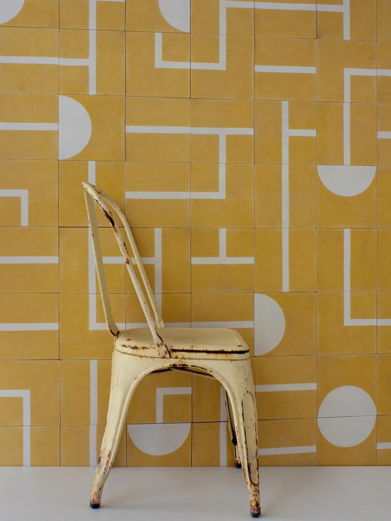 carreaux de ciment motif géométrique