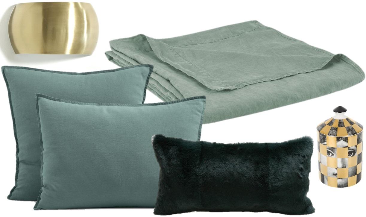 Tete De Lit Bleu Canard Peinture idées déco pour une chambre vert sauge - joli place