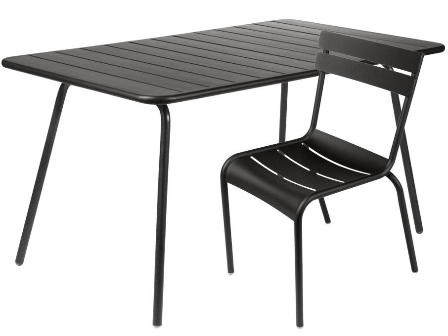 table de jardin métal noir