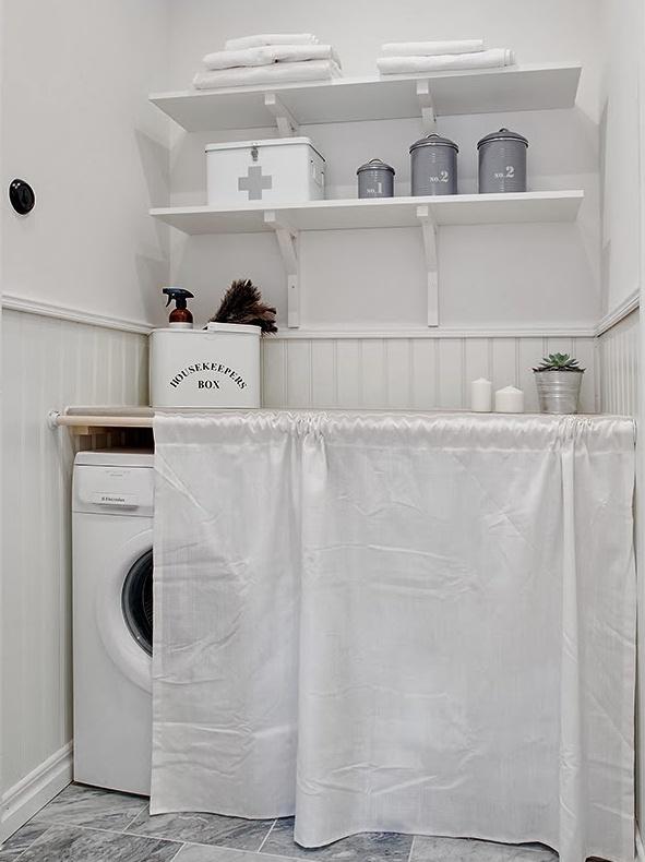 cacher un lave linge